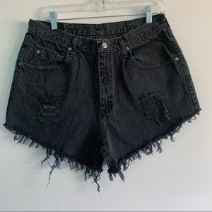VTG Wrangler Women's Black Cutoff Denim Shorts